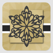 black snowflake envelope seal