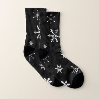 Black Snowflake Socks