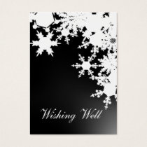 black snowflake wishing well cards