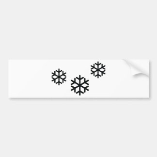 black snowflakes bumper sticker