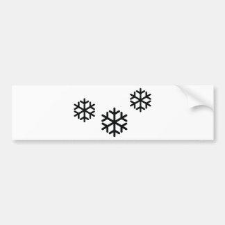 black snowflakes bumper sticker
