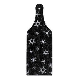 Black Snowflakes Cutting Board