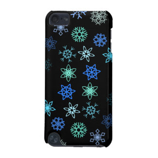 Black Snowflakes Flurry Pattern iPod Touch 5G Case