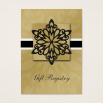 black snowflakes Gift registry  Cards