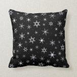 Black Snowflakes Pillows