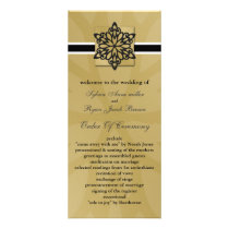 black snowflakes winter wedding program