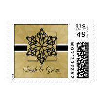 black snowflakes winter wedding stamps