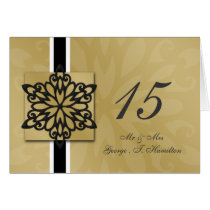 black snowflakes winter wedding table seating card