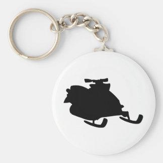 black snowmobile keychain