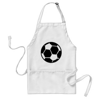 black soccer ball adult apron