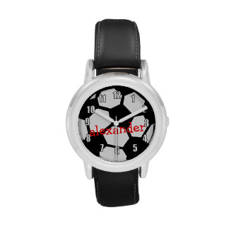 Black Soccer Ball and Name Watches