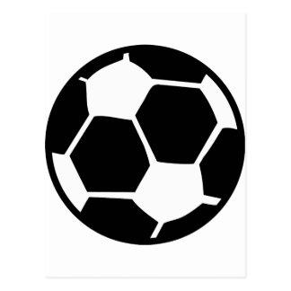 black soccer ball postcard