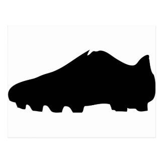 black soccer shoe postcard