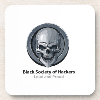 Black Society of Hackers (BSH) Logo Product Coaster