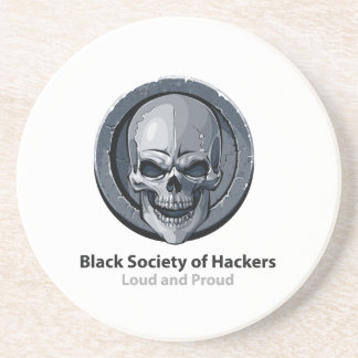 Black Society of Hackers (BSH) Logo Product Drink Coaster