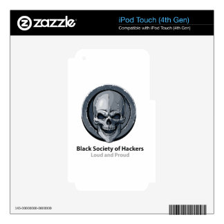 Black Society of Hackers (BSH) Logo Product iPod Touch 4G Skins