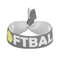 Black Softball Hairtie