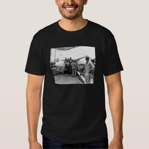 Black Soldiers Firing Artillery WWII Shirts