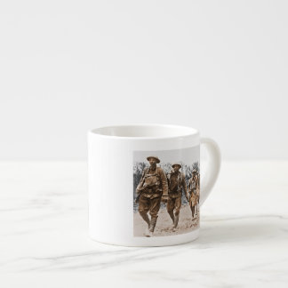 Black Soldiers Marching WWI Espresso Cup