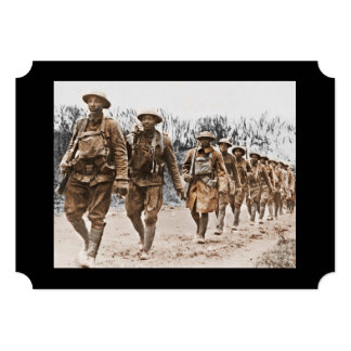 Black Soldiers Marching WWI Personalized Announcement
