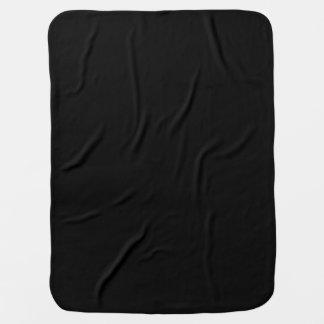 Black solid color baby blanket