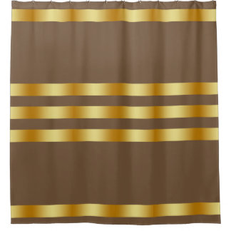 Black Solid Color Gold Badge Personalized Custom Shower Curtain