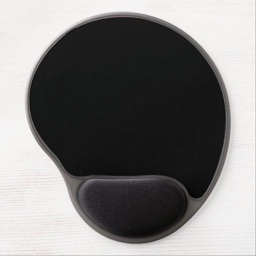 Black, Solid Color Pattern. Fashion Color Trends Gel Mousepads