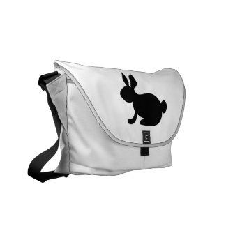 black solid side rabbit view.png courier bag