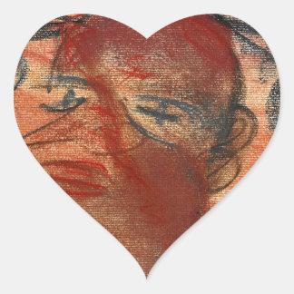 Black Soul Heart Sticker