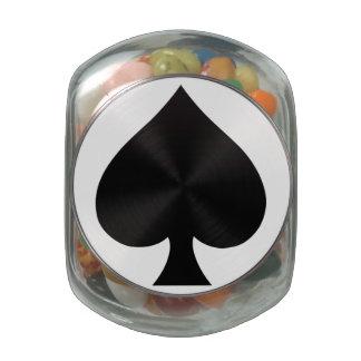 Black Spade - Cards Suit, Poker, Spear Glass Jar