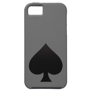 Black Spade - Cards Suit Poker Spear Cover For iPhone 5/5S