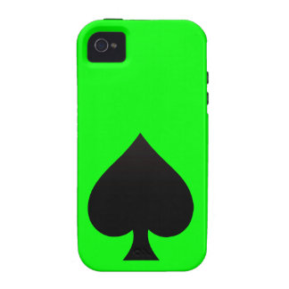 Black Spade - Cards Suit Poker Spear Vibe iPhone 4 Covers