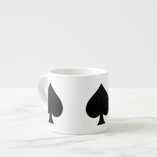 Black Spade - Cards Suit, Poker, Spear Espresso Cup