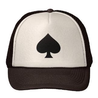 Black Spade - Cards Suit Poker Spear Mesh Hats