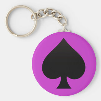 Black Spade - Cards Suit, Poker, Spear Keychain