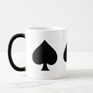 Black Spade - Cards Suit, Poker, Spear Magic Mug