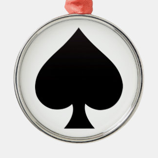 Black Spade - Cards Suit, Poker, Spear Metal Ornament