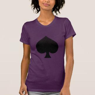 Black Spade - Cards Suit, Poker, Spear T-Shirt