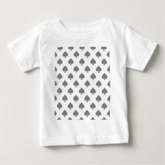 Black Spade Pattern Baby T-Shirt