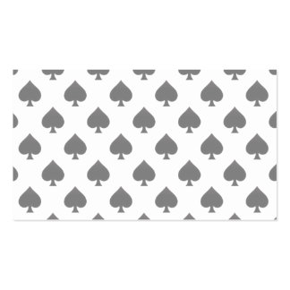 Black Spade Pattern Business Card Template