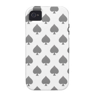 Black Spade Pattern Vibe iPhone 4 Cases