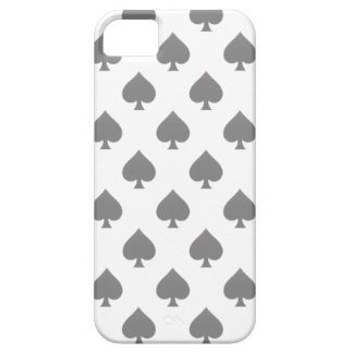 Black Spade Pattern iPhone 5 Cases