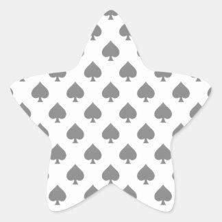 Black Spade Pattern Sticker