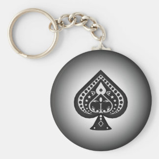 Black Spades: Playing Cards Suit: Keychain