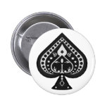 Black Spades: Playing Cards Suit: Pin