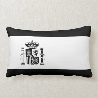 Black Spain Country Flag Throw Pillow
