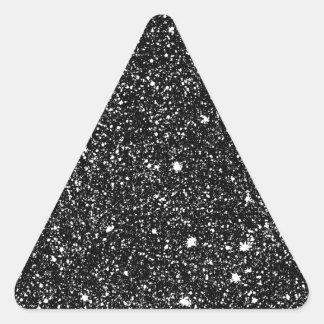 Black Sparkle Stars Triangle Sticker