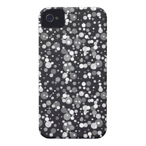 Black Sparkles Case-Mate iPhone 4 Cases
