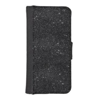 Black Sparkles iPhone SE/5/5s Wallet Case