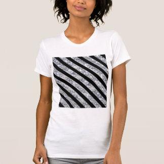 Black & Sparkling Diamond Like Stripes T Shirt